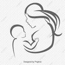 無料ダウンロードのための母性愛の挿絵 祝日のシンボルパターン 女性の