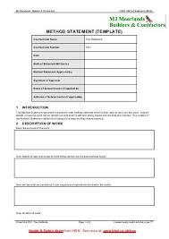 Method Of Statement Sample Method Of Statement Sample Sample Safe Work Method Statement Safe 64