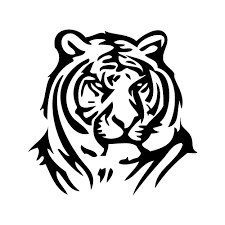tiger face clipart black and white. Wonderful Black With Tiger Face Clipart Black And White C
