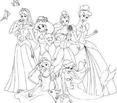 Coloriage Disney Princesse Imprimer Sur Coloriages Info