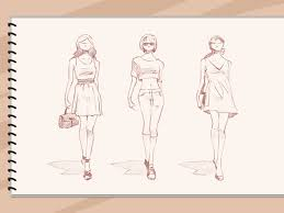 Sketching Clothing How To Sketch Fashion Designs 5 Steps With Pictures Wikihow