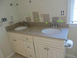 Painted Bathroom Countertops Brighten Up Master Bathroom