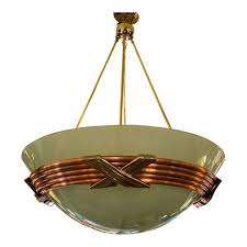 frosted glass brass copper pendant light sold