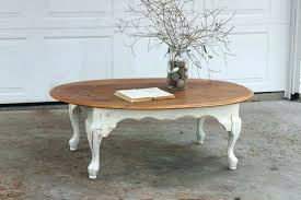 shabby chic coffee table living room astounding white design with round wooden legs