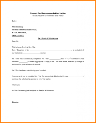 College Recommendation Sample Samples Of College Recommendation Letters Write A Letter