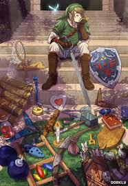 Gfest Legend of Zelda Art Link Holds a Garage Sale