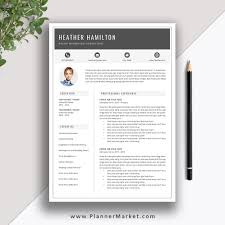Beating Out All The Other Candidates To Get A Job Offer With This Creative Modern Resume Template Cover Letter The Heather Resume