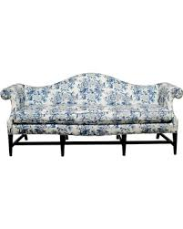 Chippendale Style Camelback Sofa With Chinoiserie Ralph Lauren Upholstery Camelback Sofas For Sale28