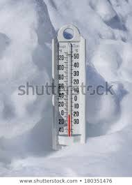 Freezing Temperature Thermometer Snow Below Freezing Temperature Stock Photo Edit Now