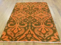 4 1 x6 1 hand knotted orange cast ikat overdyed pure wool oriental rug moaced09 the rug ping