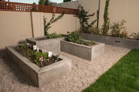 Poured concrete raised beds landscape modern with cut flower garden raised  beds cut flower garden
