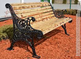 cast iron garden bench oslo vintage fr unique design