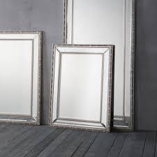 marlebone small pewter wall mirror
