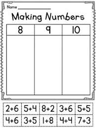 Worksheets, First grade and First grade worksheets on PinterestMaking numbers cutting and pasting activities!! So fun for decomposing numbers