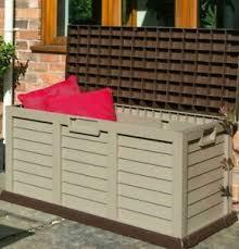 plastic cushion bench rowlinson storage