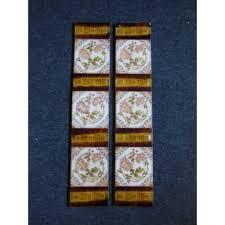 ot140 original set of victorian fireplace tiles swirling fl