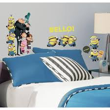 Minion Bedroom Roommates Rmk2080scs Despicable Me 2 Peel And Stick Wall Decals
