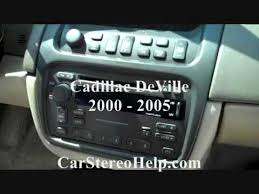 cadillac deville stereo removal 2000 2005