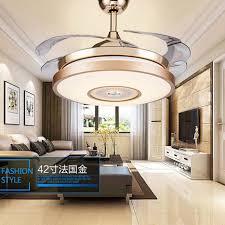 Us 28269 19 Offled Bluetooth Musik Edelstahl Acryl Deckenventilator Led Deckenleuchten Led Deckenleuchte Deckenleuchte Für Foyer Schlafzimmer