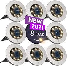 <b>Solar</b> Ground Lights, Disk Lights <b>Solar</b> Powered - <b>8 Led</b>, <b>Outdoor</b> in ...