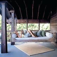 diy hanging bed image of best hanging porch bed swing plans diy hanging loft bed plans