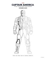 Captain America The Winter Soldier Printable Coloring Page Disney