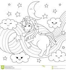 Unicorno Che Gioca Con Il Percorso Dellarcobaleno Per Lelemento Di