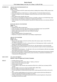 Graduate Engineer Resume Samples Velvet Jobs