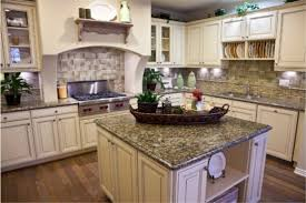 backsplash for santa cecilia granite countertop. Elegant Grey Dark Granite Countertops White Cabinets And Tile Backsplash In Large Kitchen For Santa Cecilia Countertop