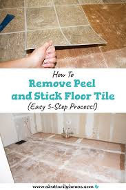 how to remove l and stick floor tile