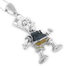 bart simpson diamond pendant by itshot jewelry