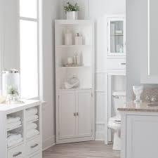 Bathroom Linen Cabinet Tower Corner Bath Storage Organizer Closet ...