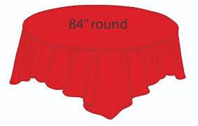 84 plastic round tablecover red