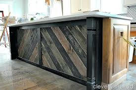 reclaimed wood island kitchen countertop