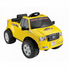 Power Wheels 6V Battery Powered Ride On: Lil F150 Yellow Pick Up ...