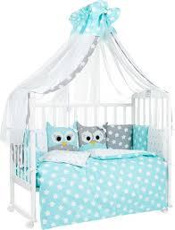 <b>Комплект</b> в кроватку <b>Sweet Baby</b> Uccellino, 410664, мятный, 7 ...