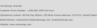 Xcel Energy Customer Service Xcel Energy Colorado Number Xcel Energy Colorado Customer