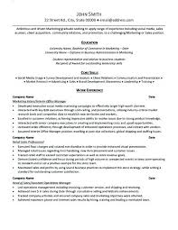 resume examples for internship resume examples for marketing internships example internship intern