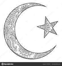 религиозные исламский символ звезда и полумесяц декоративные знак