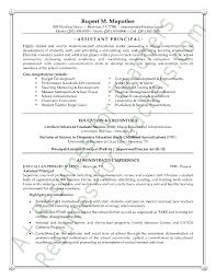 Assistant School Principal Resume Or Cv Sample A K A Vice Principal