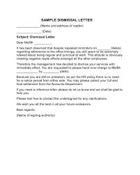 Sample Dismissal Letter Dismissal Letter Sample Edit Fill Sign Online Handypdf