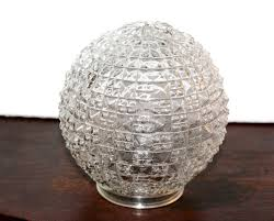 antique glass globe replacement diamond point hobnail