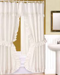 ... Good Looking Ideas For Designer Shower Curtains With Valance In  Bathroom Interior : Casual White Tassel ...