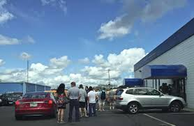 the line for the department of motor vehicles dmv office at 2 lee