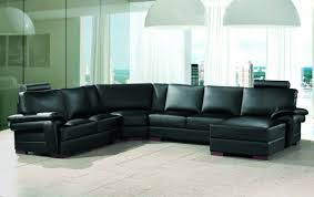 Black Leather Sectional Sofa With Recliner Livingroom Modular Sofa Reclining Sectional Sofas Leather