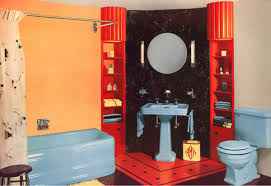 1940 bathroom design. Contemporary 1940 By 1940 Closecoupled Toilets In Bright Colors Were The Norm Like This  Outstanding Bathroom Suite Baby Blue In 1940 Bathroom Design D