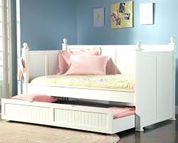Full Bed With Trundle Twin Kids Furniture Size Storage White Bedroom ...