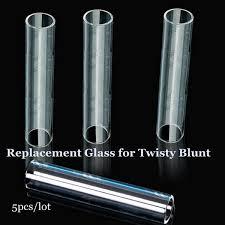 <b>5PCS</b>/<b>Lot</b> Twisty Glass Blunt Replacement <b>Clear</b> Pyrex Glass Tube ...
