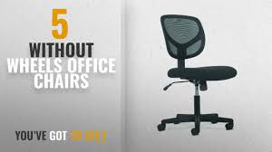 office chairs no wheels. Top 10 Office Chairs Without Wheels [2018]: Sadie Swivel Mid Back Mesh Task Chair Arms - No I