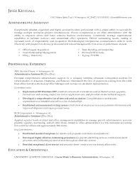 Examples Of Administrative Resumes Extraordinary Best Resume Samples For Administrative Assistant Inspirational